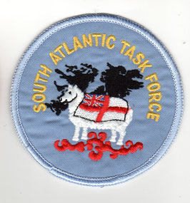 Royal Navy / Air Force patch South Atlantic Task Force Sea Harrier Falklands War   - obsolete -