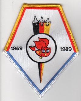 German Air Force patch AG 51 ´Immelmann´ 30 years 1959-1989 RF-4E Phantom II Bremgarten AB