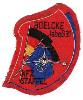 German Air Force patch JaBoG 31 ´Boelcke´ Nörvenich KFZ-STFF F-104G Starfighter