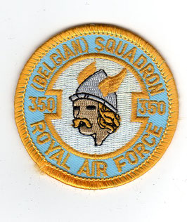 Belgian Air Force crest patch 350 Squadron / 350 Smaldeel
