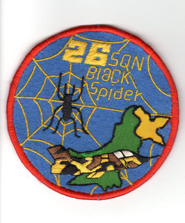 Pakistan Air Force patch No.26 Squadron ´Black Spiders´ Ops A-5 Fantan   - obsolete -