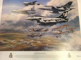 Aviation Art Print - RAF No. XI Fighter Squadron - Centenary by Ronald Wong