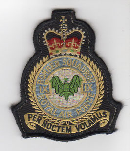 Royal Air Force crest patch No.9 Squadron Tornado GR.1 period