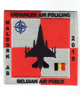 Belgian Air Force patch Enhanced Air Policing Malbork AB 2015