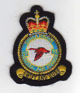 Royal Air Force crest patch No.51 Squadron Nimrod R.1   - obsolete -