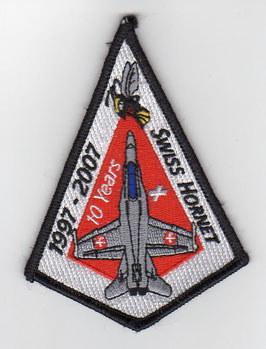 Swiss Air Force patch 10 Years Swiss Hornet 1997 - 2007