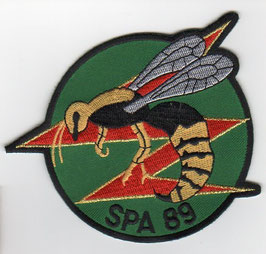 French Air Force patch Escadrille SPA 89 Mirage 2000B/C green background