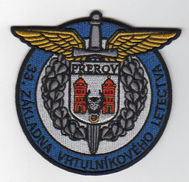 Czech Republic Air Force patch 33rd Helicopter Air Base Prerov   -obsolete -