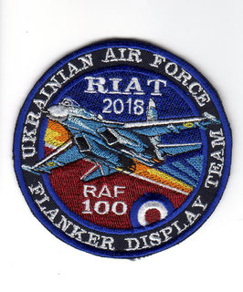 Ukrainian Air Force patch Su-27 Flanker Display RIAT 2018