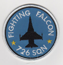 Royal Danish Air Force patch F-16 Fighting Falcon 726 Squadron   - disbanded -