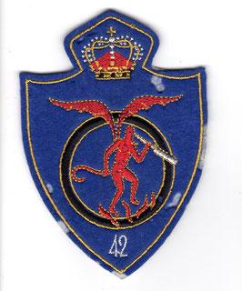 Belgian Air Force patch 42 Squadron / 42 Smaldeel  Mirage V   - disbanded -