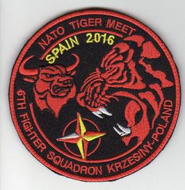Polish Air Force patch 6th ELT NATO Tiger Meet 2016 Zaragoza