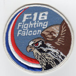 Royal Netherlands Air Force F-16 swirl patch vintage