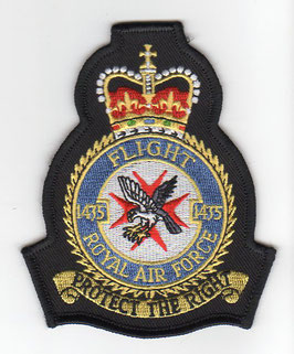 Royal Air Force crest patch No.1435 Flight Typhoon FGR.4
