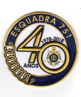 Portuguese Air Force patch 751 Esquadra 40 years anniversary