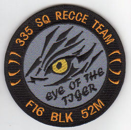 Hellenic Air Force patch ´335 Squadron Recce Team - Eye Of The Tiger´ F-16