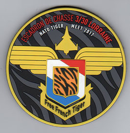 French Air Force patch EC 3/30 ´Lorraine´ NATO Tiger Meet NTM 2017 Rafale PVC
