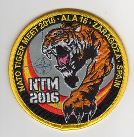 Spanish Air Force patch ALA 15 NATO Tiger Meet 2016 Zaragoza