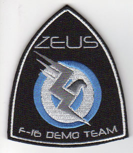 Hellenic Air Force patch ´ZEUS´ F-16 Solo Display Team