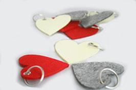 Filz Schlüsselanhänger Herz