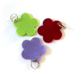 Filz Schlüsselanhänger Blume
