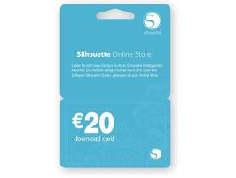 € 20,- Gutscheincode ONLINE für Silhouette Studio