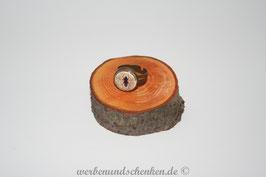 Ring in Altmessingoptik- Fliege