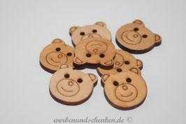 Holzknopf in Bärenform