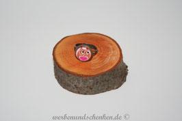 Ring in Altmessingoptik- Eule- Herz