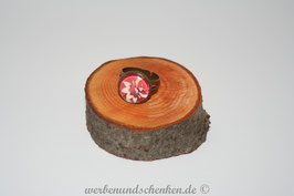 Ring in Altmessingoptik- Blüte