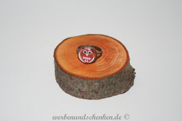 Ring in Altmessingoptik- Eule