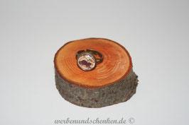 Ring in Altmessingoptik-  Katze- Noten- schwarz