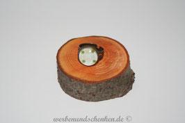 Ring in Altmessingoptik- Punkte grün