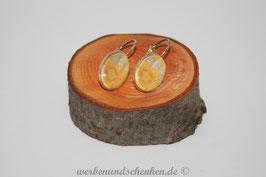 Ohrring galvanisiert - Blume- gelb