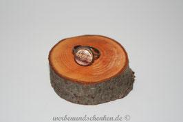 Ring in Altmessingoptik- Schiff