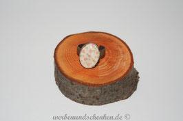 Ring in Altmessingoptik- oval- Blümchen
