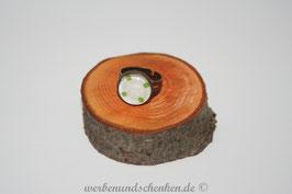 Ring in Altmessingoptik- Punkte- grün