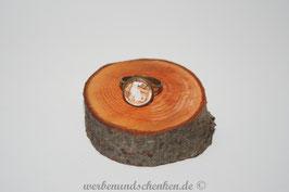 Ring in Altmessingoptik- Katze- Noten- weiß, sitzend