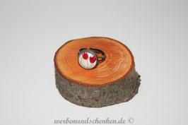 Ring in Altmessingoptik- Tulpen- rot
