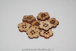 Holzknopf in Blütenform  - klein
