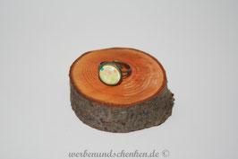 Ring in Altmessingoptik- bunte Tupfen