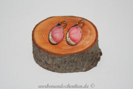 Ohrring galvanisiert - Mohnblüte