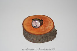 Ring in Altmessingoptik- Hirsch