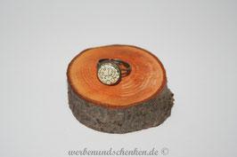 Ring in Altmessingoptik- Ranken