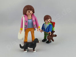 Playmobil 5513 Duo Pack Mama Welpe mit Schulkind