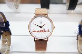 Kühlungsborn-Uhr rose veredelt mit Milanaiseband