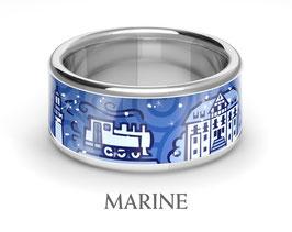 KühlungsbornRing, marine, 925 Silber