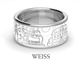 KühlungsbornRing, weiß, 925 Silber