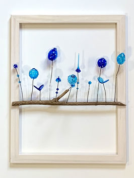 Tableau 18 X 24 cm bleu