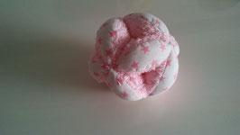 Pelota Montessori rosa y blanca con estrellas